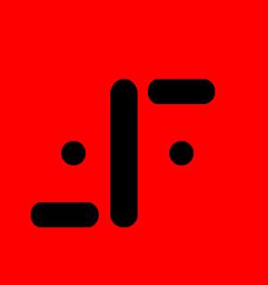 Imagen con el emblema de los reptiloides de la serie V. El emblema consta de una línea más larga vertical en el centro, a sus dos extremos superior derecho e inferior izquierdo aparecen 2 líneas cortas horizontales, y a ambos lados de la línea vertical hay dos puntos negros