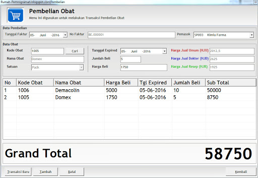 Download Source Code Project Aplikasi Pembelian Barang Terlengka