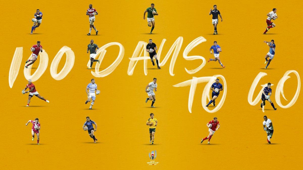 a 100 días del comienzo de la Rugby World Cup 2019 en Japón