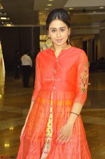 Simrat in Orange Anarkali Dress 02.JPG