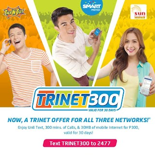 How to Register Smart 1 month unli Text TRINET 300 promo