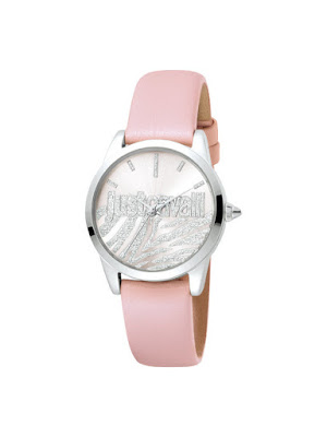 Ceas femei original roz curea piele naturala Just Cavalli Logo JC1L010L0415 Reducere