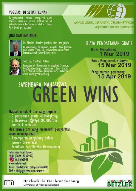 Sayembara Desain Arsitektur Green Wins 2019