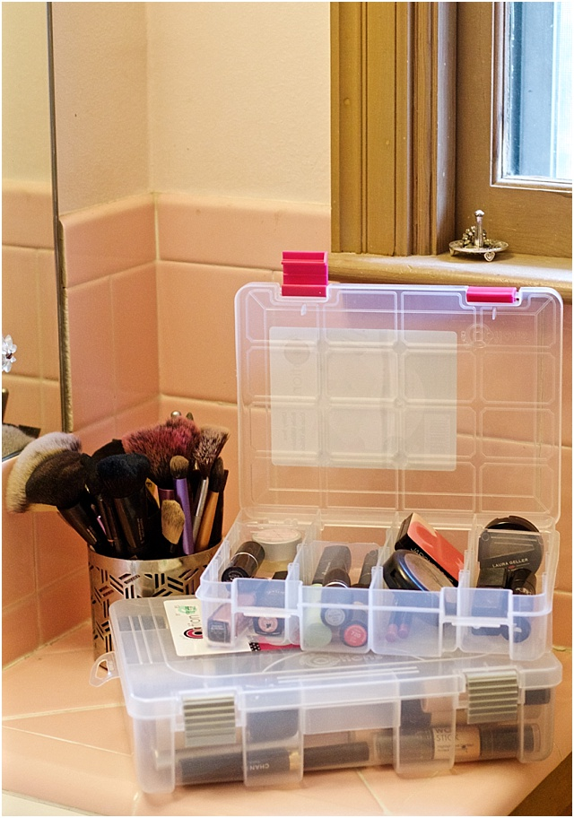 Beauty Products organizing and storing