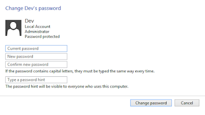 Change Password, Computer password reset