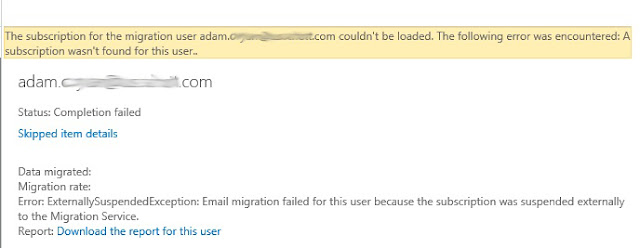EAC Migration Errors
