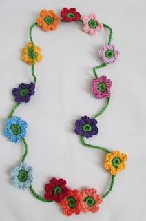 gehaakt, ketting, oya, turkse, kant, haken, handgemaakt, heyleuk, bloemen, bladeren