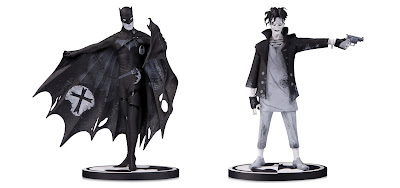 Batman Black & White Batman and The Joker Statues by Gerard Way x DC Collectibles