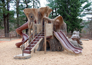 the playground at DelCarte is currently closed for repair but scheduled to be re-opened for May