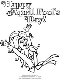 Happy april fool's day 2017 coloring pages [all fool's day