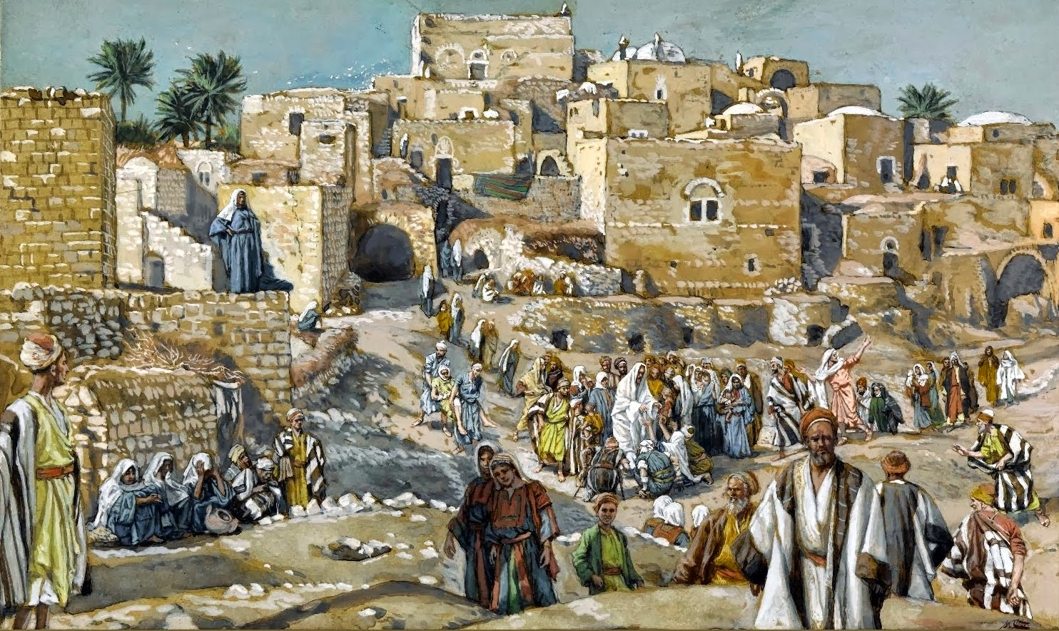 James  Tissot     He  Went  Through  the  Villages  on  the  Way  to  Jerusalem