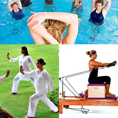 Tai chi pilates fitness acuático columna vertebral