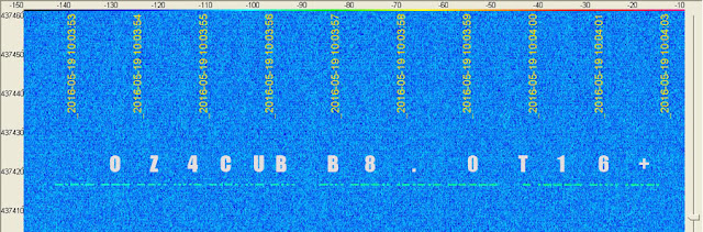 SIgnal AAUSAT-4 on SpectraVue