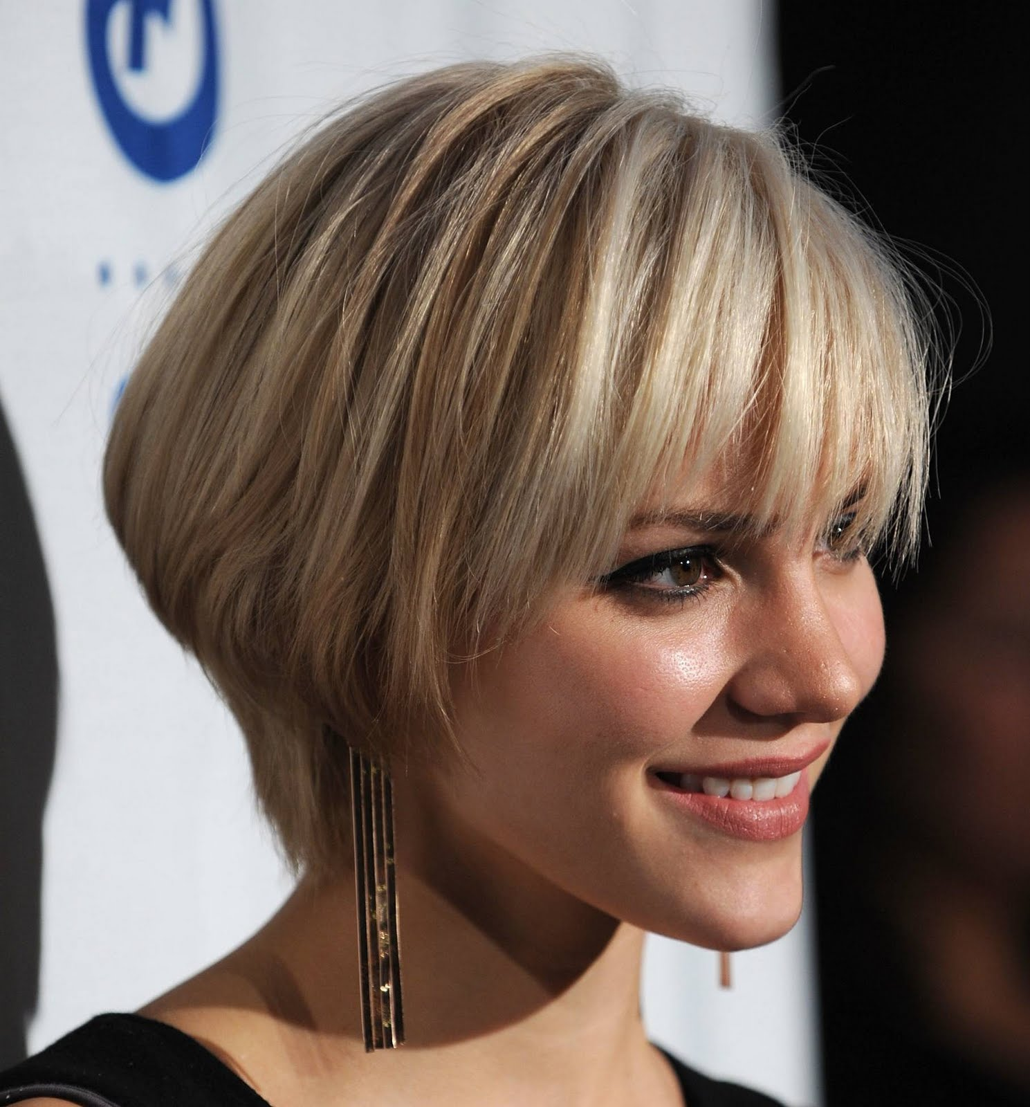 Short Blonde Straight Bob Hairstyles For Prom 2011