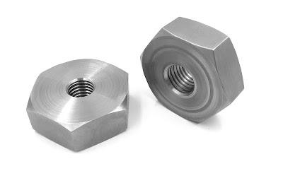 Custom Machined Hex Nuts - Oversize With 3/4-10 and 5/8-11 Internal Thread