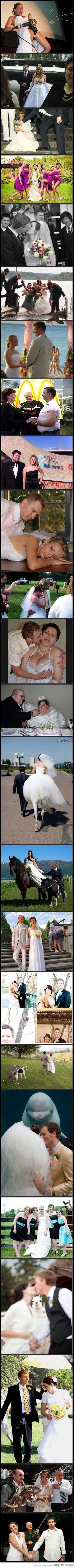 Funny Crazy Wedding Photos Picture Strip