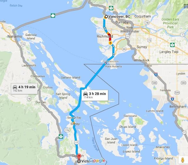 Como ir de Vancouver a Victoria de carro