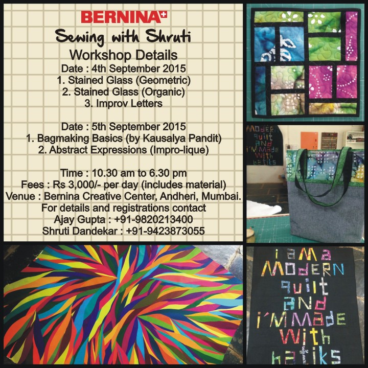 Quilting Workshop : Sewing with Shruti