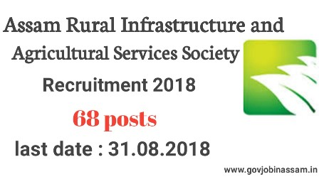 Assam Rural Infrastructure and Agricultural Services Society Recruitment 2018