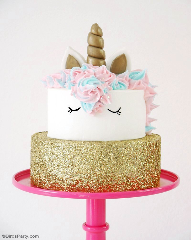 How To Make A Unicorn Birthday Cake Party Ideas Party Printables