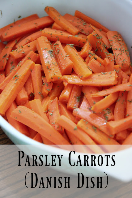 This traditional Danish dish of carrots with parsley is so simple. Your family will love this recipe!