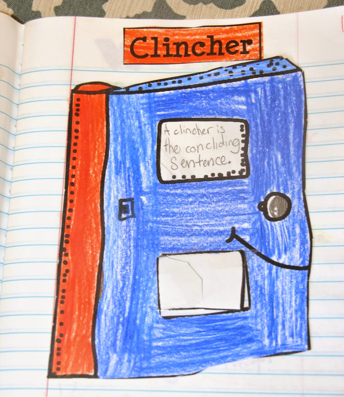 teach students how to end a pargraph with a closing sentence and add a clincher