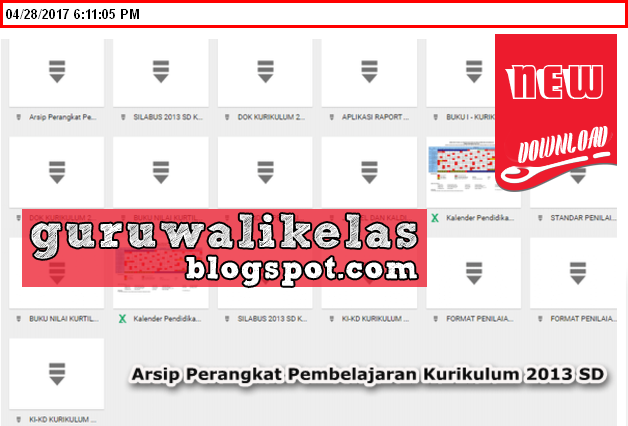 Download Arsip Perangkat Pembelajaran Kurikulum 2013 Sd