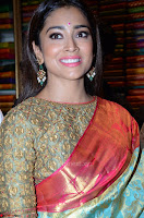 Shriya Saran Looks Stunning in Silk Saree at VRK Silk Showroom Launch Secundrabad ~  Exclusive 005.JPG