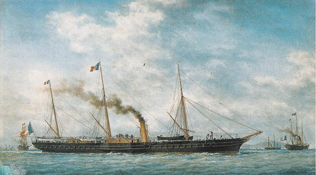 French Imperial Yacht L´Aigle