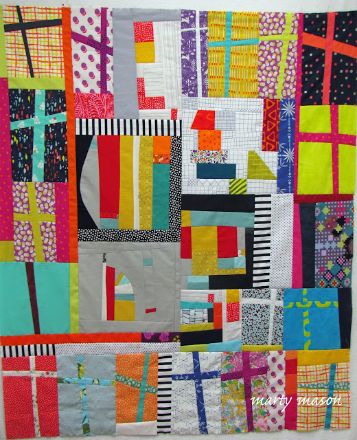 Improv quilt top - marty mason and loree odom