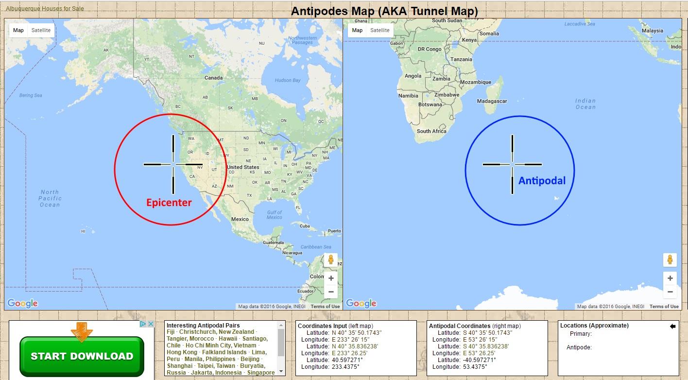 California map latitude
