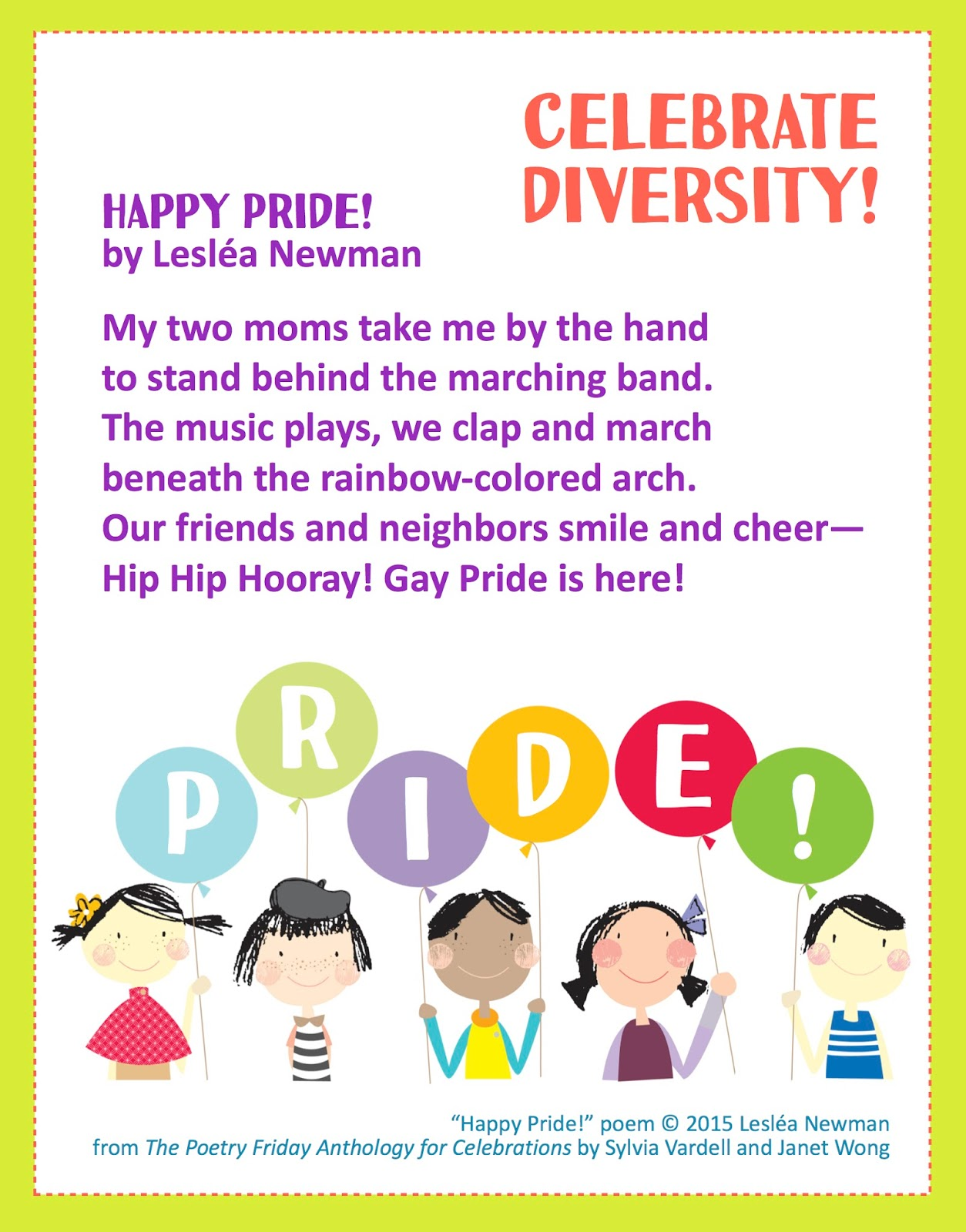 Poetry For Children Celebrate Pride
