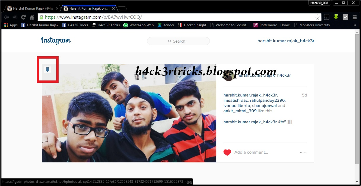 HOW TO VIEW FULL SIZE IMAGE IN INSTAGRAM....?? | H4cK3R ...