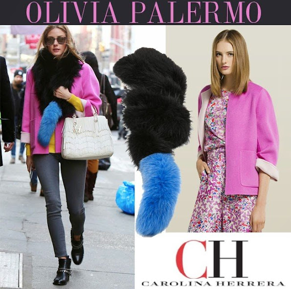 CAROLINA HERRERA jacket, we saw that jacket before on the style icon of New York high society, Olivia Palermo.