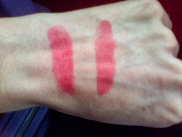 Rimmel Lipstick Pink Gossip Swatch, Rimmel Lipstick Shake it up Swatch