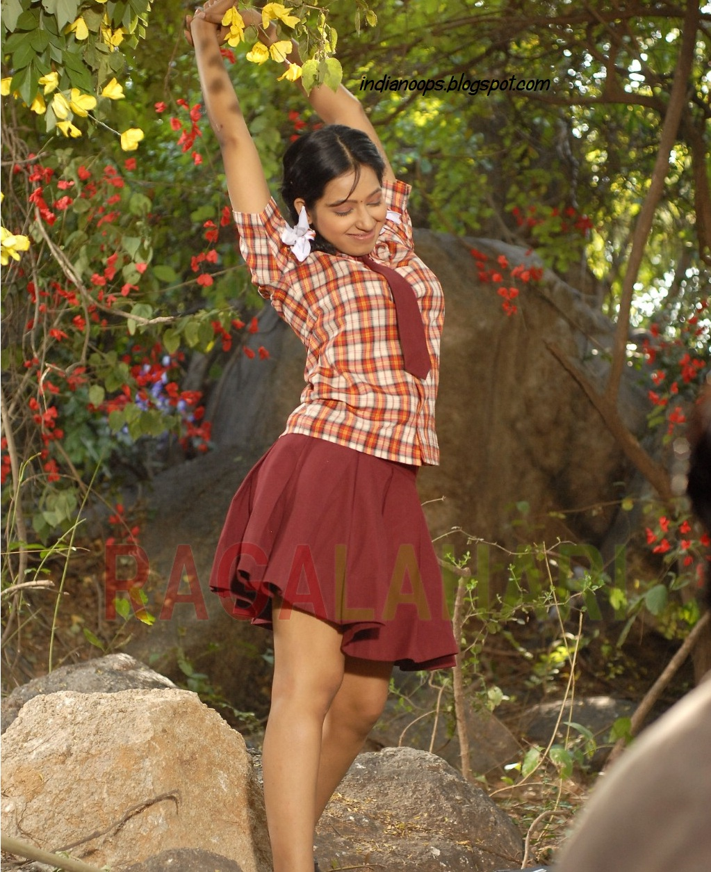 Enjoy Indian Real Life Desi School Girl Hot Skirt-5441
