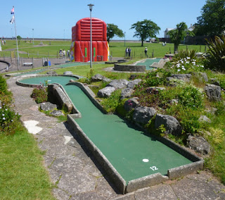 Miniature Golf course in Goodrington Park at Goodrington Sands, Paignton, Devon
