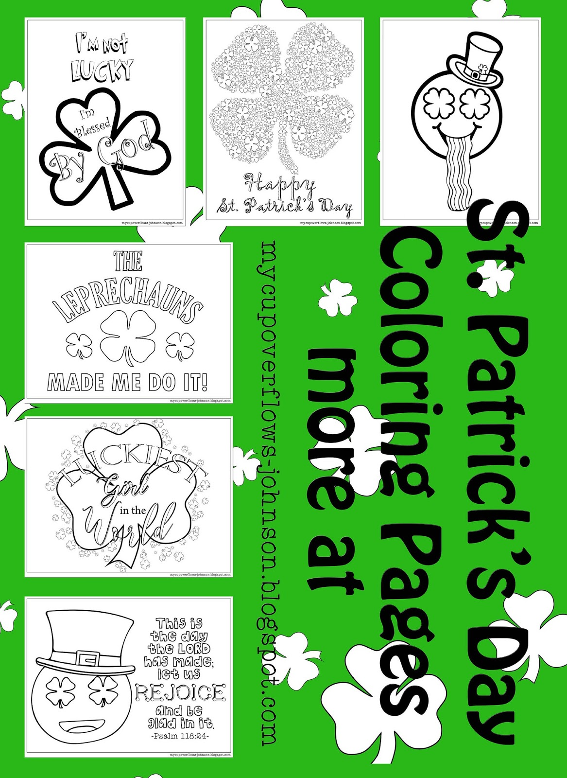 My Cup Overflows: St. Patrick\'s Day Coloring Pages