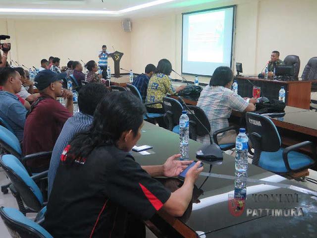 Pendam Pattimura Gelar Komsos dengan Insan Media di Kota Ambon