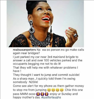 Susan Peters: See What Happened When I Answered Call Near 3rd Mainland Bridge
