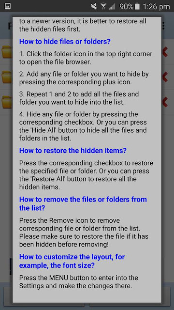 Learn how to hide Apps on Android Smartphone using File Hide Expert