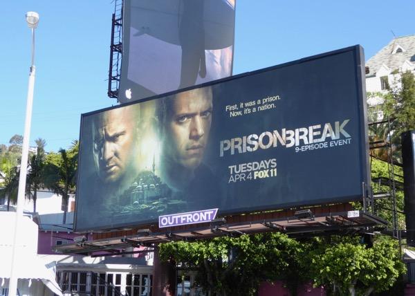 Prison Break series revival billboard