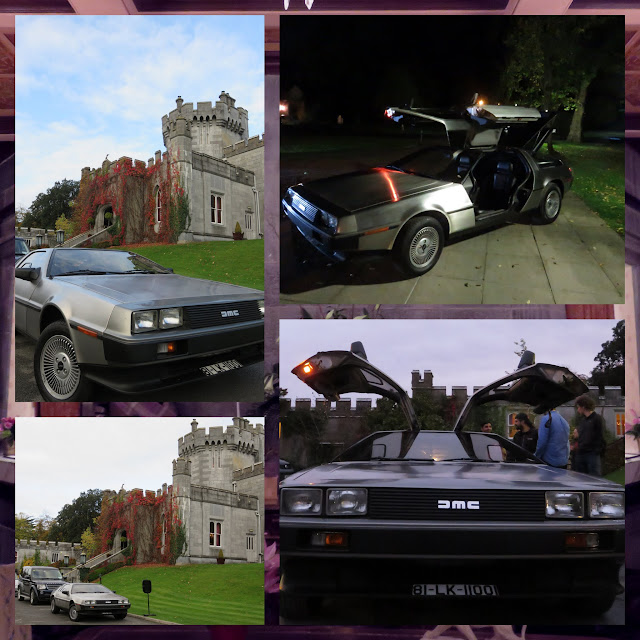 Back to the Future Delorean parked outside of Dromoland Castle