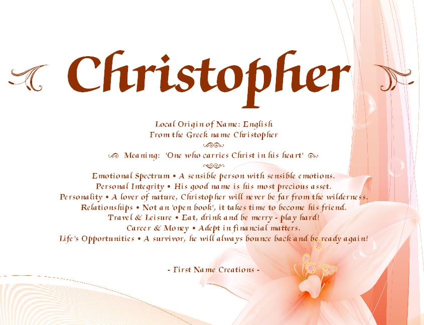 chris name - photo #43