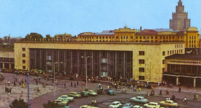 1970-е годы. Рига. Здание Центрального ж/д вокзала