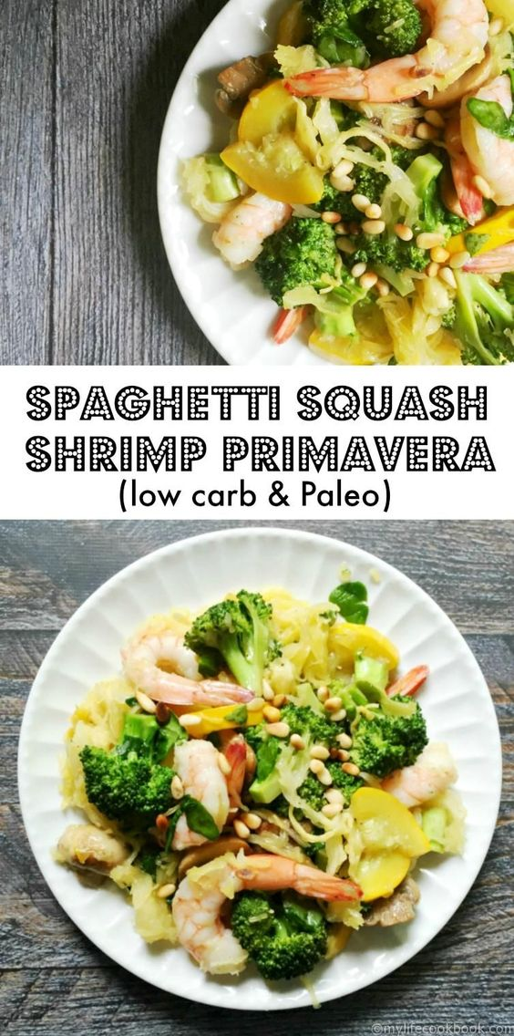 Low Carb Spaghetti Squash Shrimp Prima Vera Recipes