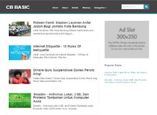 CB Basic - Template Blog Simple SEO Friendy