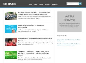 CB Basic - Template SEO Friendly Terkini & Trendy