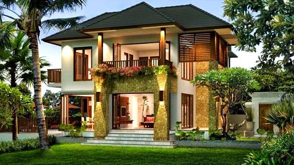 Kumpulan Model Gambar Rumah Idaman Terbaru 2016  - Rumah Idaman Bergaya Tropis