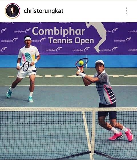 Christopher Rungkat/Justin Barki Melaju Ke Final Combiphar Indonesia Open 2018